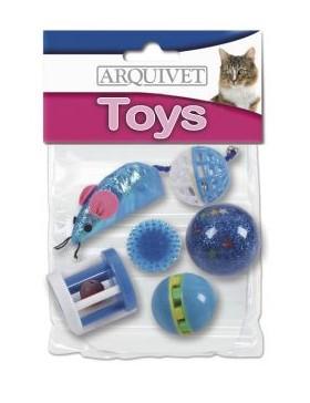 kit 6 jouet chat arquivet