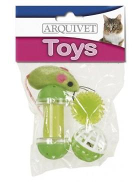 jouet chat lot 4 jouets et 1 souris