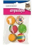jouet chat lot balle multicolor / 6