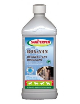saniterpen box van désinfectant 1 Litre