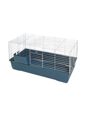 cage sonny 80 chrome/ gris fonce 80x45x42 cm
