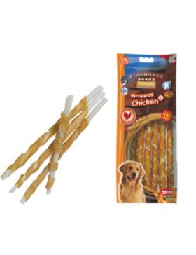 snack chien poulet stick enrobé 25cm 7-8 mm