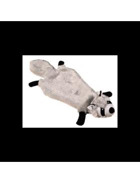 jouet chien peluche raton-laveur gris 51cm