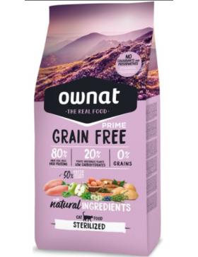 Ownat Prime Grain Free Chat Sterilise 3kg