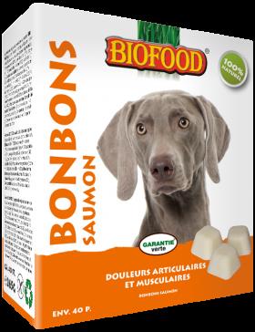 biofood bonbon graisse de mouton maxi 40 pc/ saumon