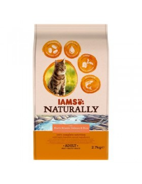 iams naturrally chat adulte saumon 2.7 kg