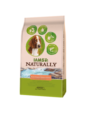 iams naturally chien adult saumon 2.7 kg