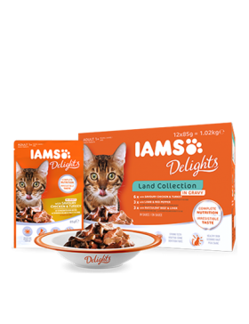 iams chat humide land collection sauce 12x85 gr