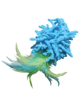 jouet chat kong active moppy with feathers