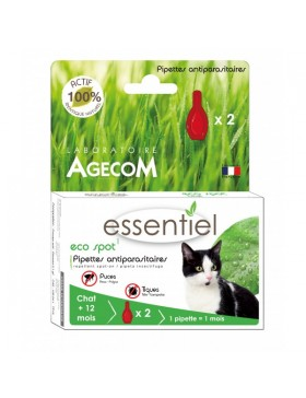 eco spot n°1 chat 2 pipettes