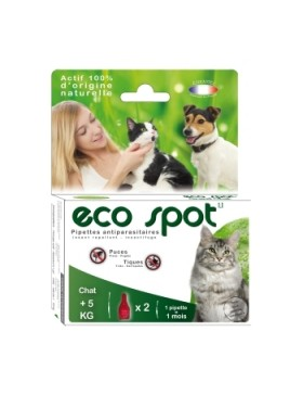 eco spot n°1 grand chat 2 pipettes