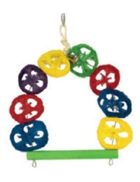 arquivet jouet oiseau arche multicolor et cloche